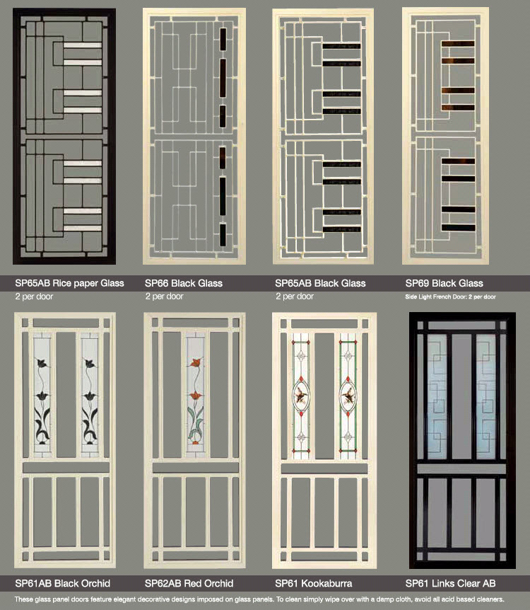 Decorative Security Screen Doors Blinds One A Division