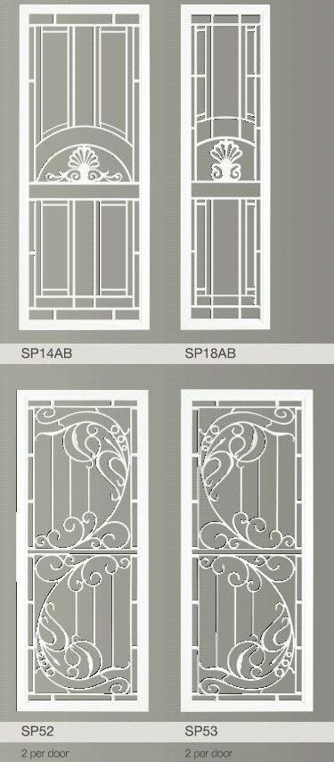 Decorative Security Screen Doors : Decorative security screen doors blinds one