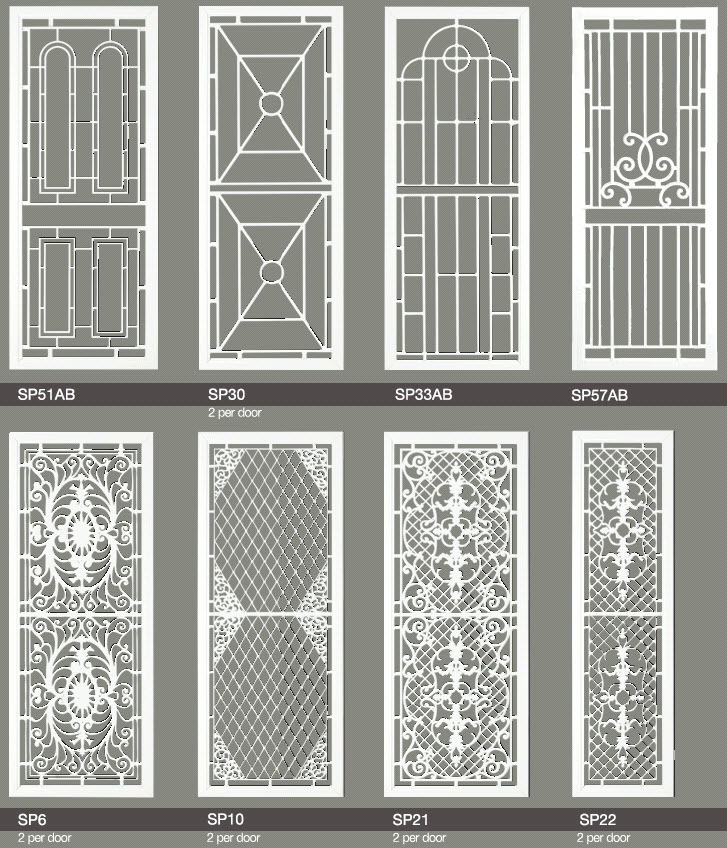 Decorative Security Screen Doors Blinds One