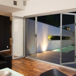 Folding door security screen