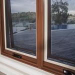 Awning window security screen